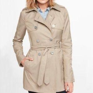 EXPRESS Khaki Trench Coat Button Up Size XS
